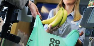 compostable carrier bags at Co-op