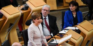 First Minster Nicola Sturgeon sets out her programme for government at the Scottish Parliament on September 4, 2018 in Edinburgh, Scotland.