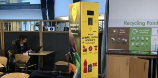 Recycling pointy at Leeds Beckett University.