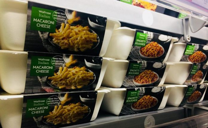 Waitrose to expand trial replacing black plastic from ready meal packagin