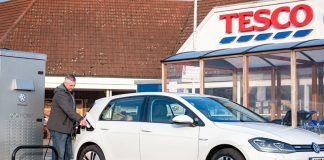 Tesco has partnered with Volkswagen to develop the largest retail electric vehicle charging network in the UK.