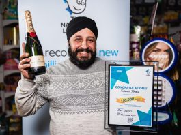 London retailer wins £10,000 in Camelot's quarterly prize draw