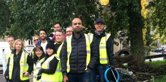 Co-op staff 'collect' a motorbike in canal clean-up