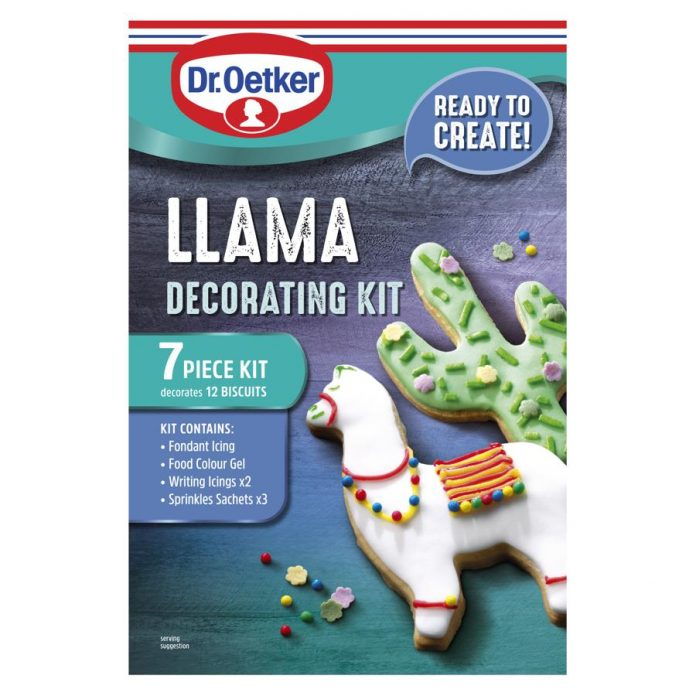 Dr. Oetker unveils new llama-themed decorating kit