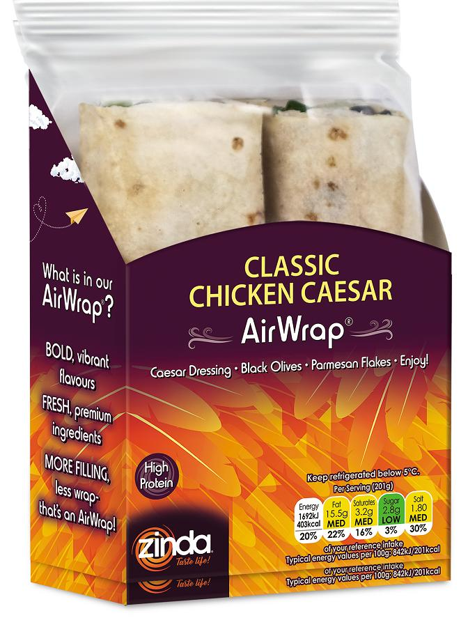 Zinda Foods launches wraps range with first-to-market base