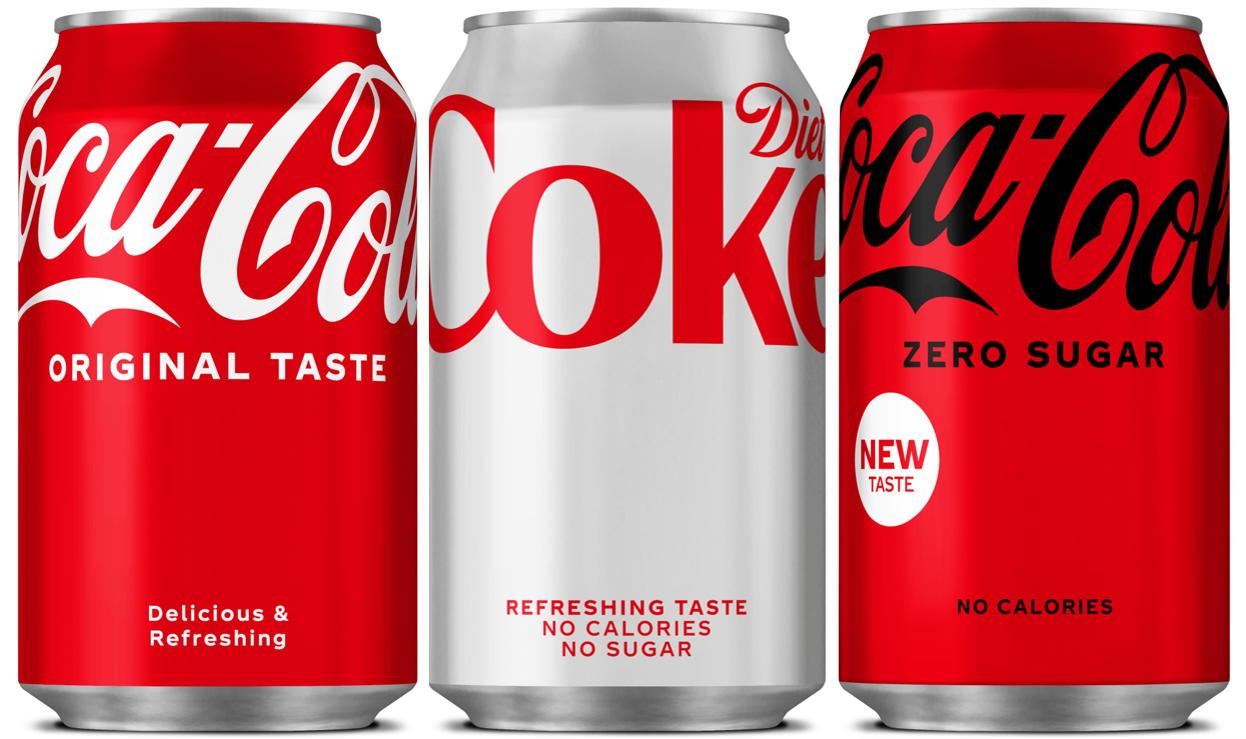 Coca-Cola unveils new look design