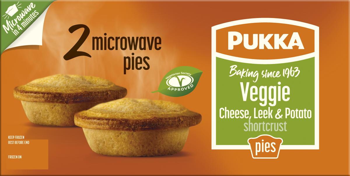 Pukka takes its Veggie pie into frozen, microwaveable format